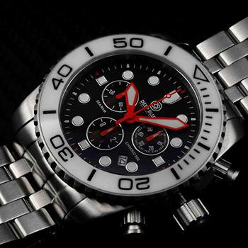 Швейцарские наручные  мужские часы Deep Blue SRCWB. Коллекция Sea Ram Chronograph
