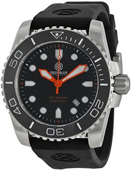 Швейцарские наручные  мужские часы Deep Blue SRQBA. Коллекция Sea Ram Quartz