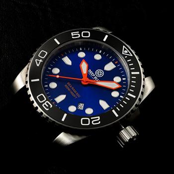 Швейцарские наручные  мужские часы Deep Blue SRQBB. Коллекция Sea Ram Quartz