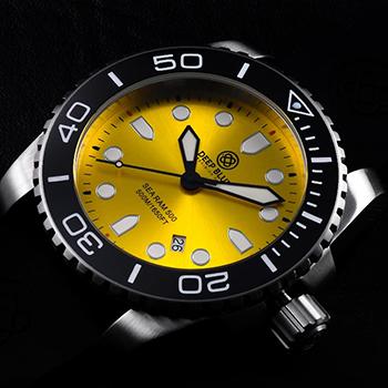 Швейцарские наручные  мужские часы Deep Blue SRQBE. Коллекция Sea Ram Quartz