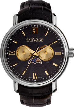 Швейцарские наручные  мужские часы Sauvage SV89312S. Коллекция Etalon