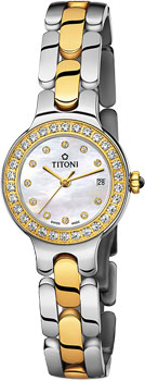 Швейцарские наручные  женские часы Titoni TQ-42915-SY-DB-381. Коллекция Mademoiselle by Titoni