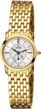 Швейцарские наручные  женские часы Titoni TQ-42917-G-380. Коллекция Slenderline