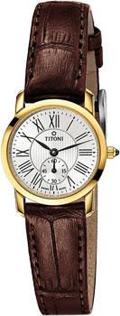 Швейцарские наручные  женские часы Titoni TQ-42917-G-ST-375. Коллекция Slenderline