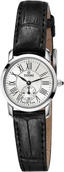 Швейцарские наручные  женские часы Titoni TQ-42917-S-ST-375. Коллекция Slenderline