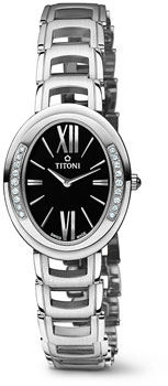 Швейцарские наручные  женские часы Titoni TQ-42921-S-DB-360. Коллекция Mademoiselle by Titoni