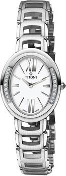 Швейцарские наручные  женские часы Titoni TQ-42921-S-DB-361. Коллекция Mademoiselle by Titoni