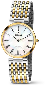 Швейцарские наручные  мужские часы Titoni TQ-52926-SY-340. Коллекция Slenderline