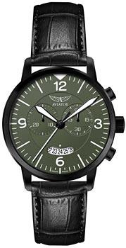 Швейцарские наручные  мужские часы Aviator V.2.13.5.076.4. Коллекция Airacobra