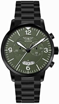 Швейцарские наручные  мужские часы Aviator V.2.13.5.076.5. Коллекция Airacobra