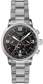 Швейцарские наручные  мужские часы Aviator V.2.16.0.094.5. Коллекция Kingcobra chrono