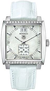 Швейцарские наручные  женские часы TAG Heuer WAW1313.FC6247. Коллекция Monaco