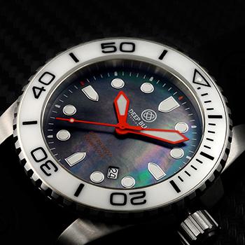 Швейцарские наручные  мужские часы Deep Blue WHTBLKQTZMOP. Коллекция Sea Ram Quartz Mop