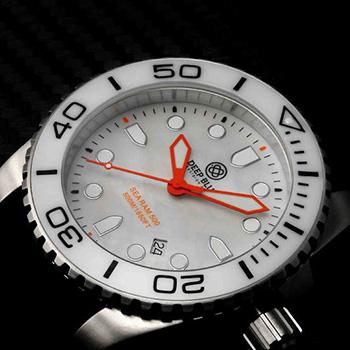 Швейцарские наручные  мужские часы Deep Blue WHTWHTQTZMOP. Коллекция Sea Ram Quartz Mop